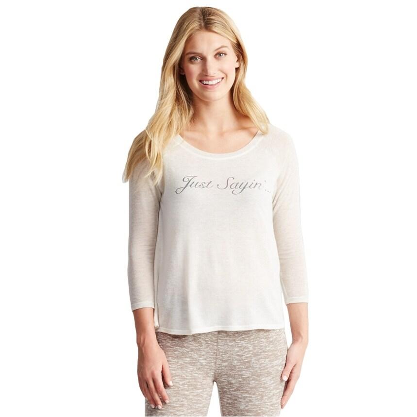 Aeropostale Womens Double Scoop Pajama Sleep T-Shirt