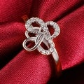 Twisted Design White Gold Ring - Thumbnail 2
