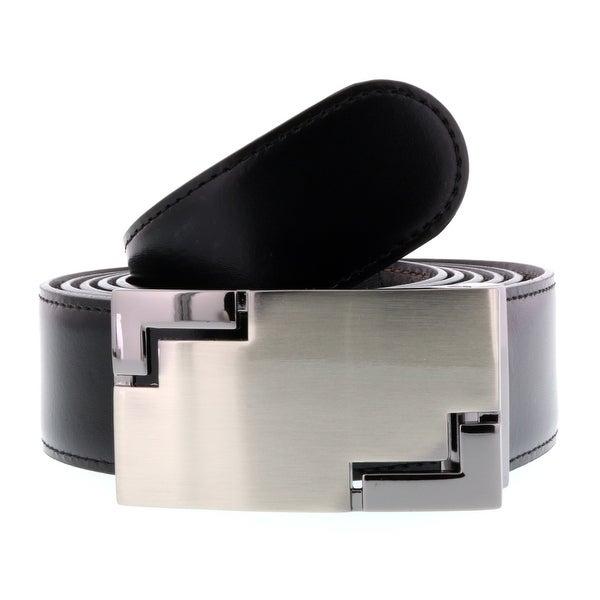 HS Collection HSB 5099 Black/Brown Reversible/Adjustable Mens Belt