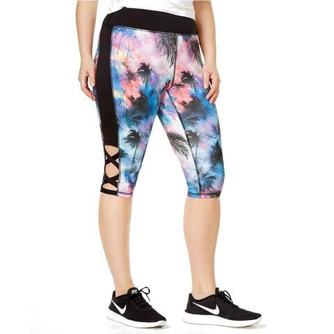 Material Girl Plus Women's Play Ball Capri Leggings (2X) - Tropic Galaxy - 2X Plus
