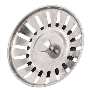 "Bathroom Kitchen Floor Metal Sink Strainer Plug Type Drain Stopper 3"" Dia"