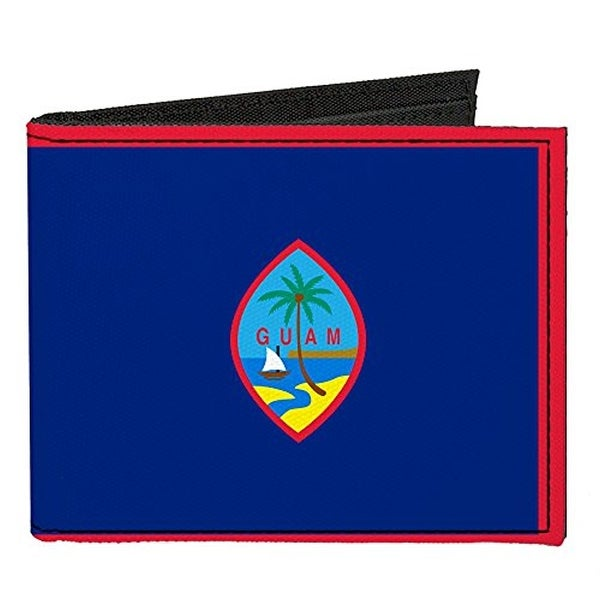 Buckle-Down Canvas Bi-fold Wallet - Guam Flag Accessory