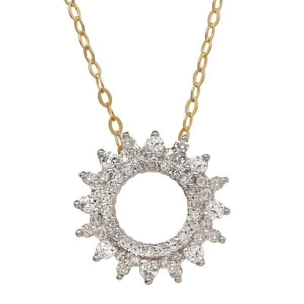 1/3 ct Diamond Sunburst Necklace in 14K Gold