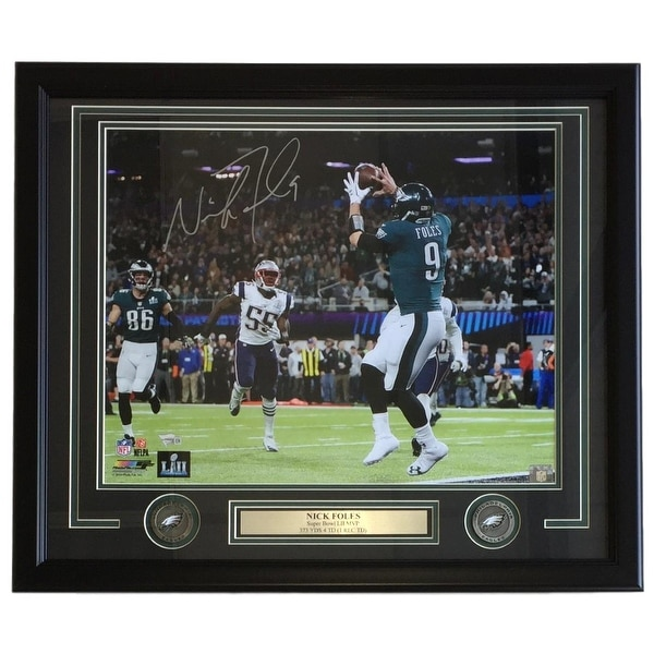 0fb2733e3 Nick Foles Signed Framed 16x20 Eagles SB 52 Philly Special Photo Fanatics
