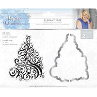 Sara Davies Signature Winter Wonderland Die & Stamp Set-Elegant Tree
