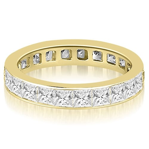 3.50 cttw. 14K Yellow Gold Princess Channel Eternity Ring