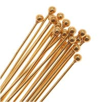 22K Gold Plated Ball Head Pins 22 Gauge 3 Inches (20)