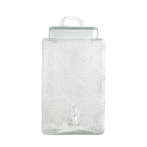 Gibson Home Jewelite 2.5 Gallon Drink Dispenser, Clear Glass