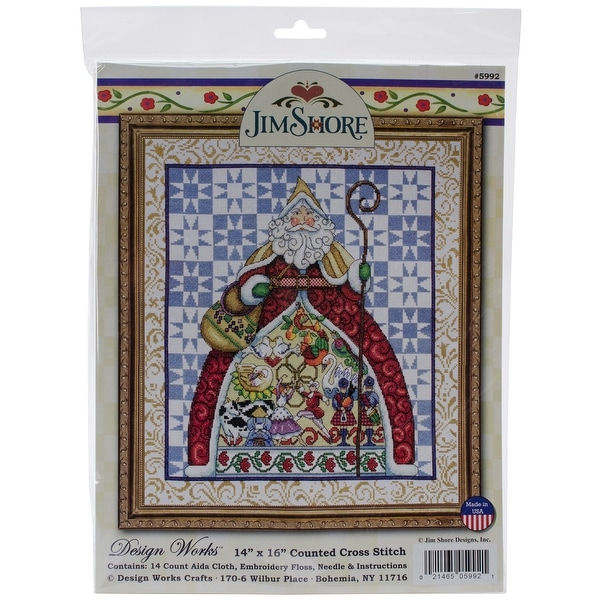 "12 Days By Jim Shore Counted Cross Stitch Kit-14""X16"" 14 Count"
