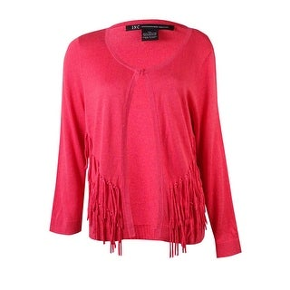 INC International Concepts Women's Fringed Knit Cardigan