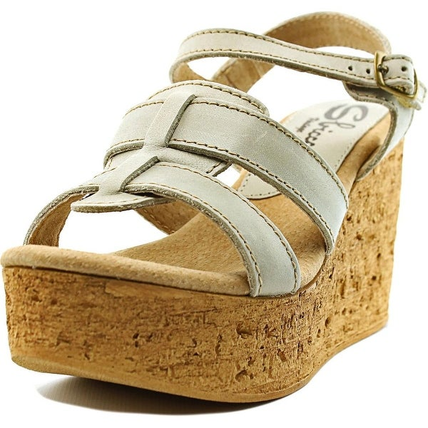 Sbicca Seacliff Women Open Toe Leather Wedge Sandal