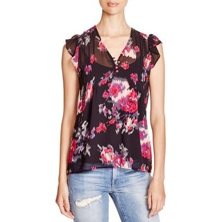 Joie Womens B Blouse Silk Printed
