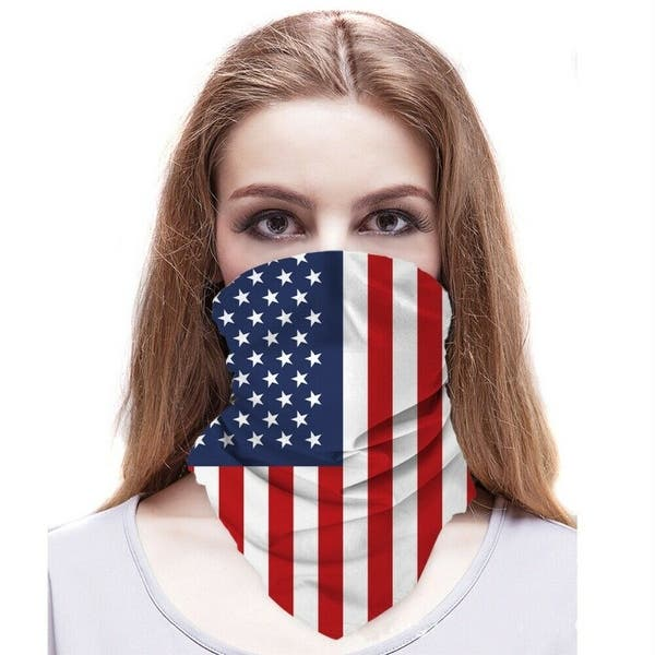 US Flag Face Mask Sun Shield Neck Gaiter Balaclava Neckerchief Bandana Headband
