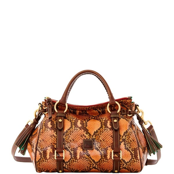 Dooney & Bourke City Python Small Satchel (Introduced by Dooney & Bourke at $428 in Sep 2016) - Orange