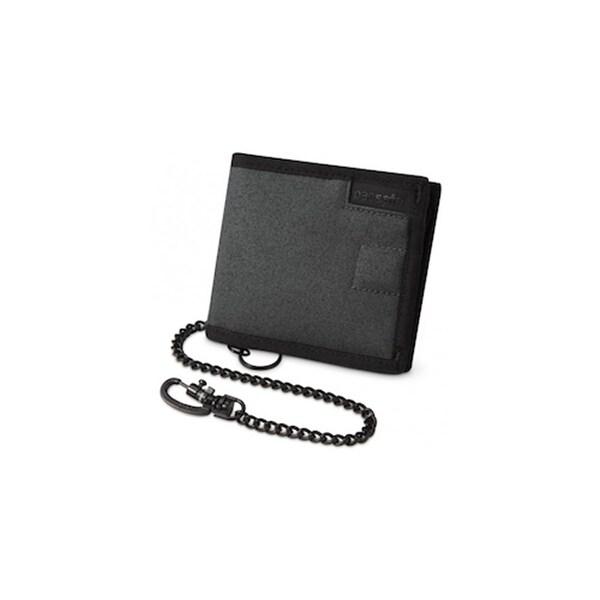 Pacsafe RFIDsafe Z100-Charcoal Anti-Theft RFID Blocking Bi-fold Wallet