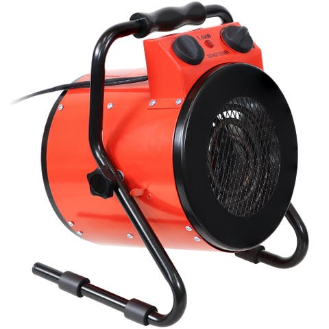 Sunnydaze Portable Steel Electric Space Heater with Carrying Handle - 1500W