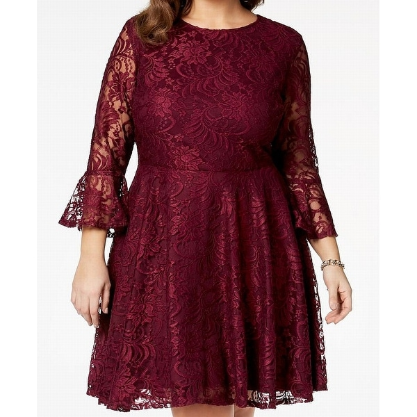 da78265bc6 City Studio Ruby Rum Red Women's Size 18 Plus A-Line Lace Dress