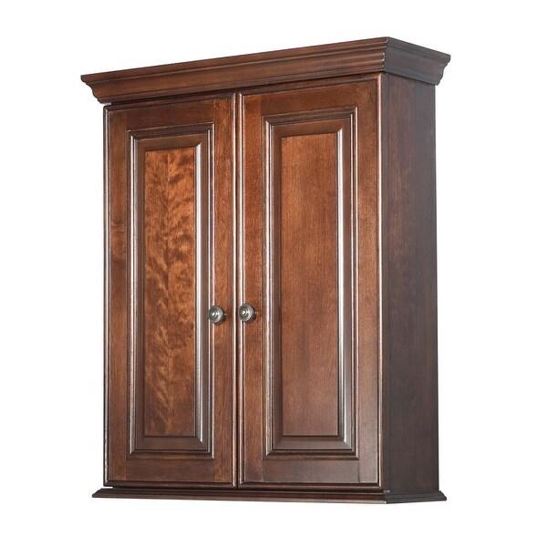 Foremost Ha2428 Hawthorne Bathroom Wall Cabinet Dark Walnut Free Shipping Today 16430230