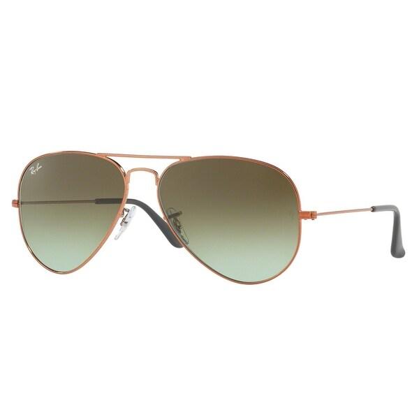 Ray Ban RB3025 9002/A6 58mm Bronze Copper Green Gradient Aviator Sunglasses - bronze copper - 58mm-14mm-135mm