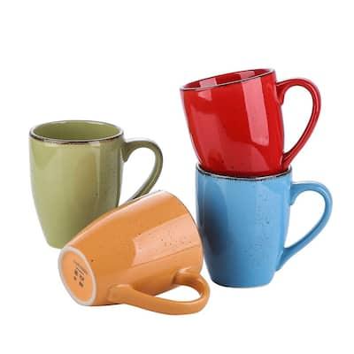 vancasso Navia 11 Oz. Multi-Color Vintage Mug (Set of 4)