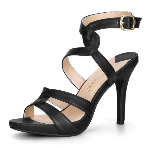 Women's Crisscross Strappy Straps Stiletto High Heel Sandals