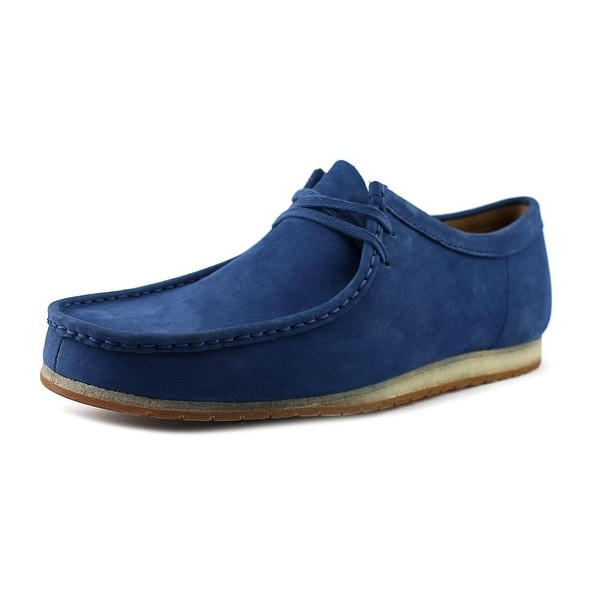 Clarks Artisan Wallabee Step Men Moc Toe Leather Blue Oxford