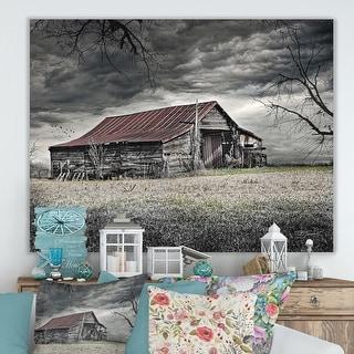 Link to Designart 'Storm Barn' Farmhouse Canvas Artwork Print Similar Items in Vinyl Wall Art