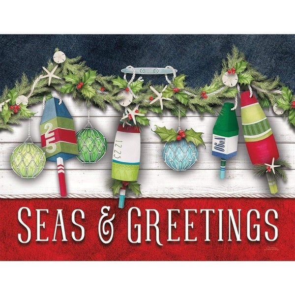 Shop Sea Greetings 5.375 In X 6.875 In Boxed Christmas Cards, Christmas Cards by Lan - On Sale - Free Shipping On Orders Over $45 - Overstock - 24336998