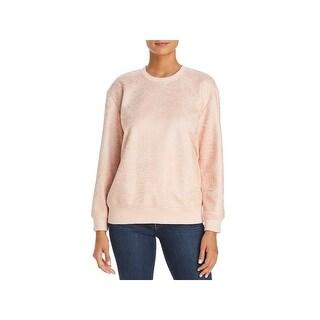 Kenneth Cole Womens Sweatshirt, Crew Metallic Coated