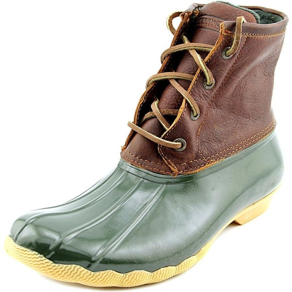 Sperry Top Sider Saltwater Round Toe Leather Rain Boot