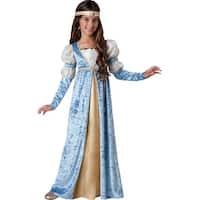 Girls Blue Renaissance Maiden Halloween Costume