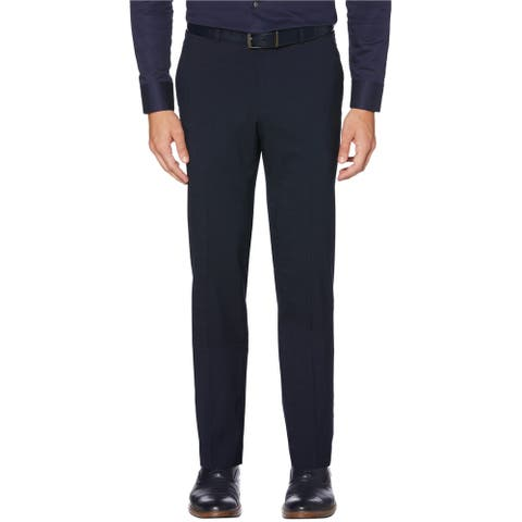 Perry Ellis Mens Stretch Dress Pants Slacks, Blue, 29W x 30L