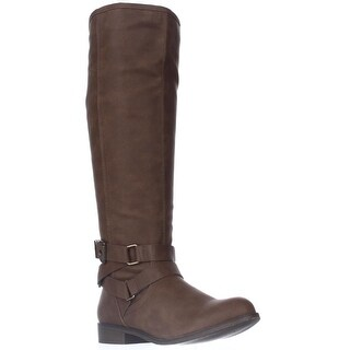 madden girl Corporel Flat Riding Boots - Cognac