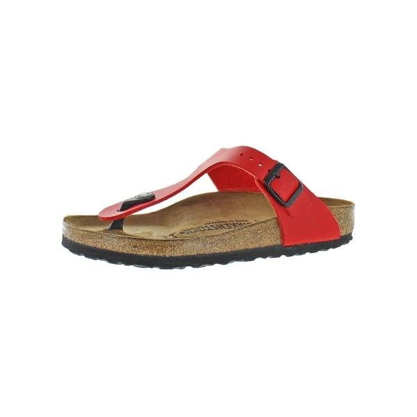 9b6c4a05ddffa Shop Birkenstock Womens Gizeh T-Strap Sandals Birko-Flor Adjustable ...