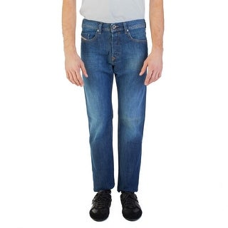 Diesel Men's Regular Slim-Tapered Fit Buster 0855L Jean Pants Dark Blue