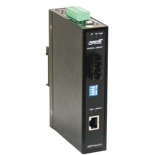 """Transition Networks SISTF1011-211-LRT Transition Networks Media Converter - 1 x Network (RJ-45) - 1 x ST Ports - 10/100Base-TX,"