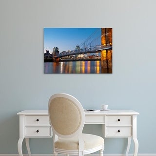 Easy Art Prints Chuck Haney's 'Cincinnati Skyline' Premium Canvas Art