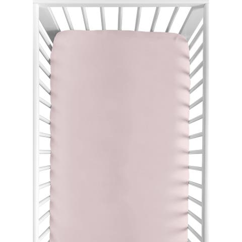 Mauve Girl Fitted Crib Sheet - Solid Color Pink Cotton For Boho Desert Sun Mountain Collection