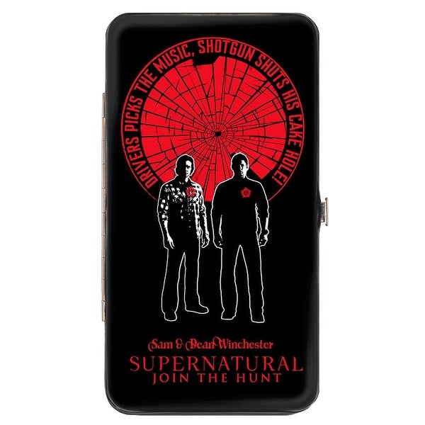 Supernatural Sam & Dean Winchester Pose Driver Picks The Music Shattered Hinge Wallet One Size - One Size Fits most