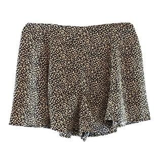 Soprano NEW Brown Size Large L Junior Leopard Print Dress Shorts
