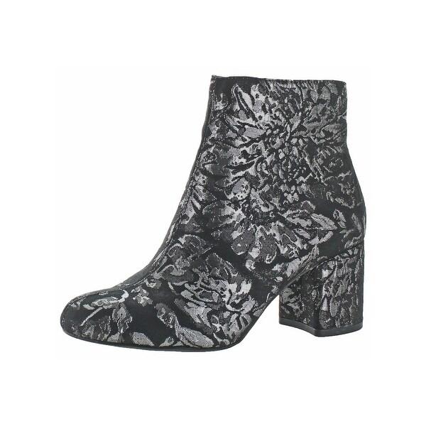 592c481e27a Shop Jessica Simpson Womens Ruella Ankle Boots Metallic Floral Print ...