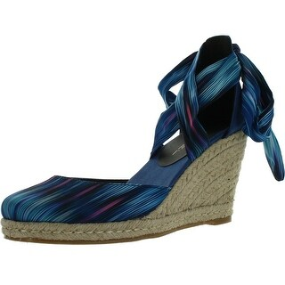 C Label Rollin-3 Womens Lace Up Criss Cross Espadrille Wedge Sandal