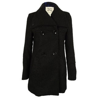 Maralyn & Me Women's Double-Breasted Peacoat