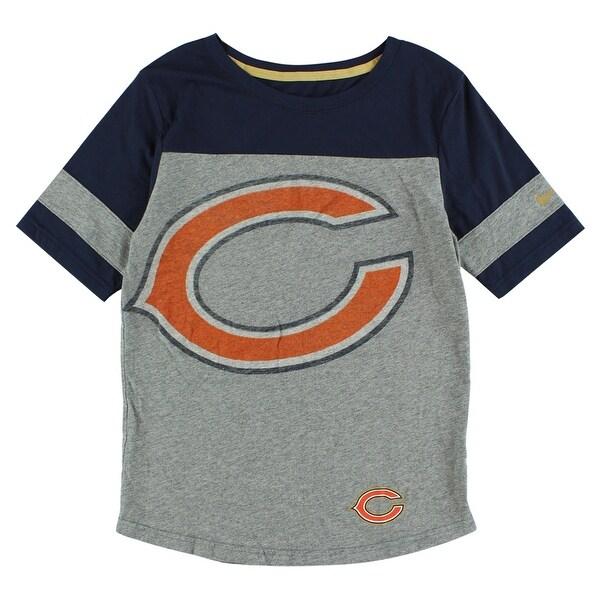 20b5ab46 Nike Womens Chicago Bears Championship Drive Fan T Shirt Heather Grey -  Heather Grey/Navy Blue/Orange - S