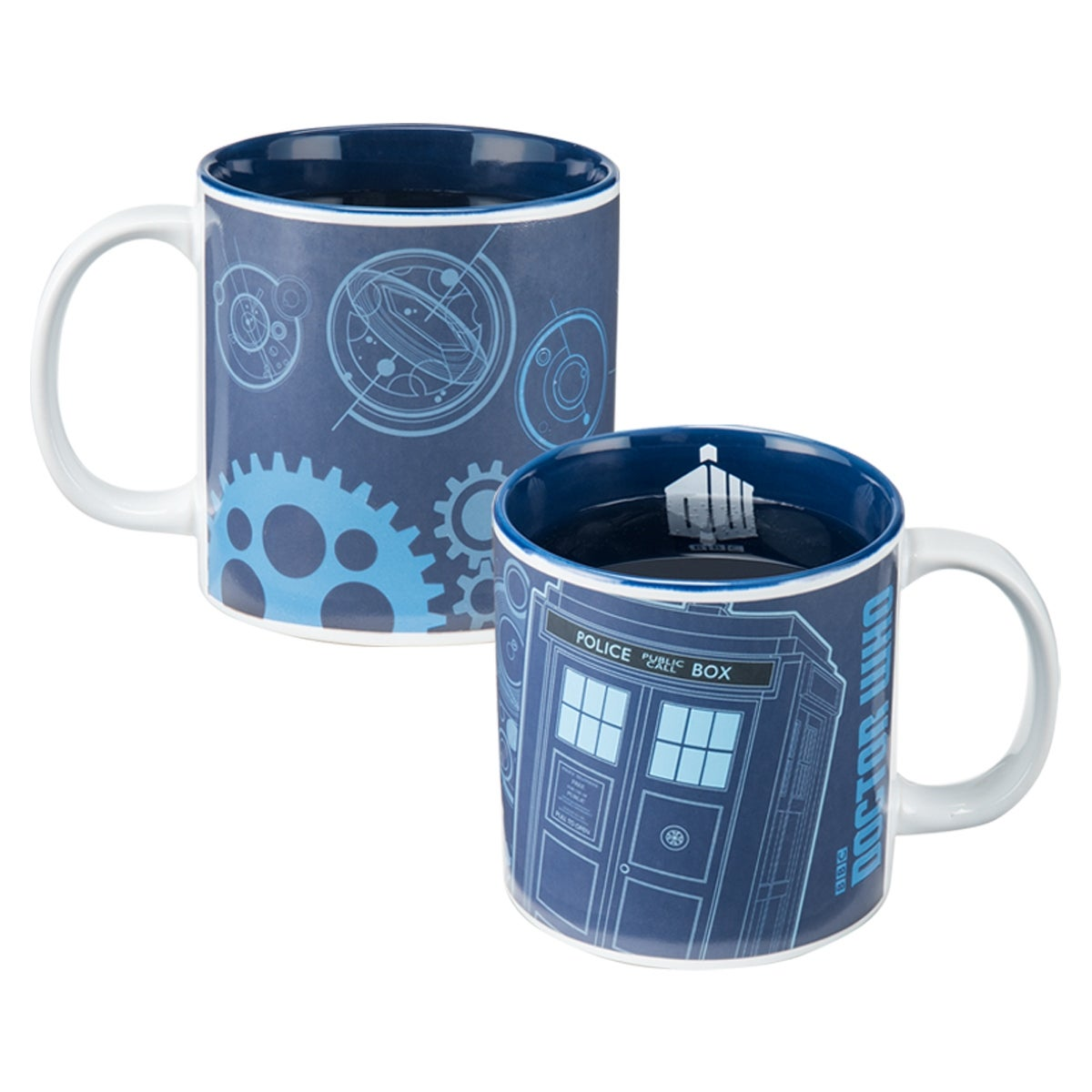 Stein With Doctor Who Logo Dr Who Heat Reveal 20oz Coffee Mug
