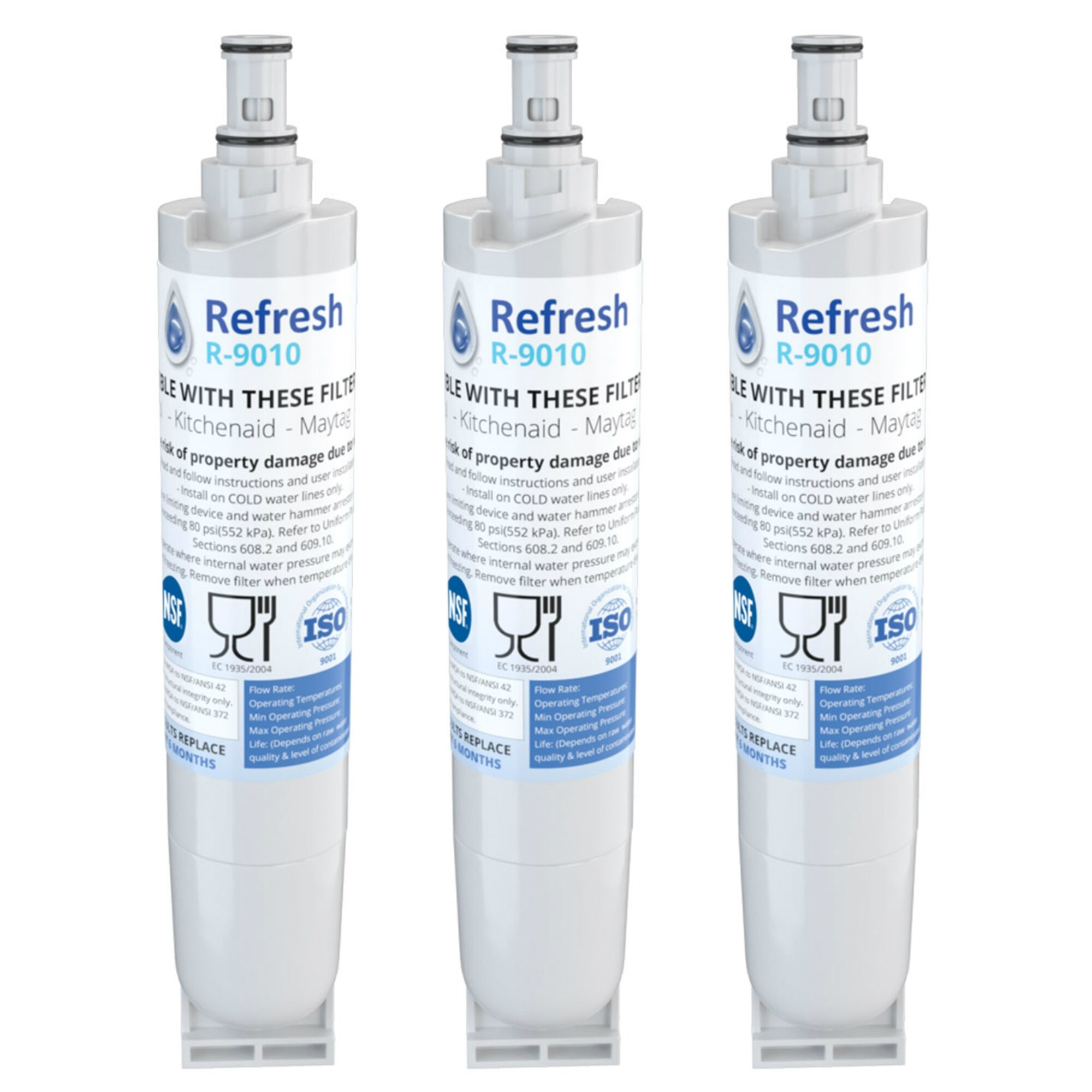 Refresh Replacement Water Filter Fits Whirlpool ED5FHGXKQ02 Refrigerators