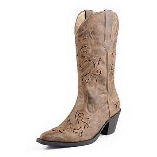 Roper Western Boots Womens Fashion Tan 09-021-1556-0768 TA