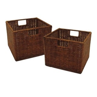 Winsome Trading 92211 Leo Set of 2 Wired Basket Small