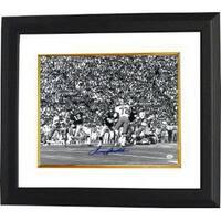 Terry Bradshaw signed Pittsburgh Steelers 16x20 BW Photo Custom Framed horizontal vs Cowboys JSA Ho