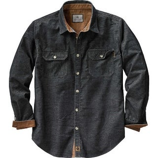 Legendary Whitetails Mens Canyon Ridge Corduroy Shirt - Black